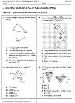Assessment Prep for Common Core Math Grade 8 SALE 20% OFF! 404234