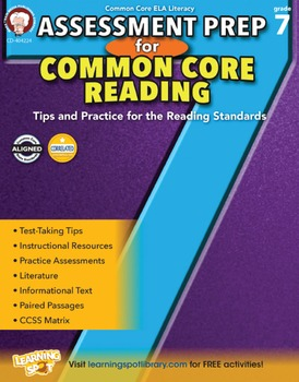 Assessment Prep for Common Core Reading Grade 7 SALE 20% O