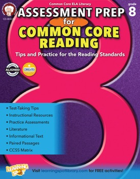 Assessment Prep for Common Core Reading Grade 8 SALE 20% O