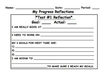 Assessment Progress Bar Graph Target Activity and Reflection