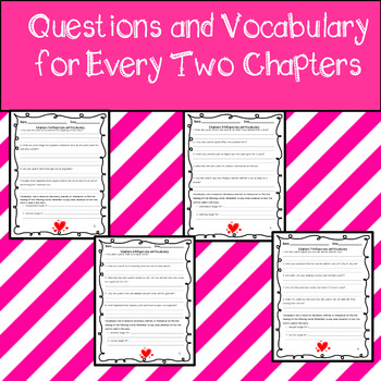 Junie B. and the Mushy Gushy Valentime Assessment, Questions, & Vocabulary