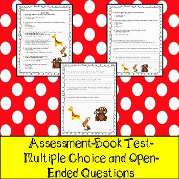The Giraffe and the Pelly and Me Assessment, Questions, & Vocabulary