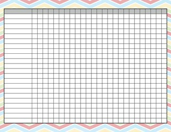 Assessment Record Sheet ~ chevron theme
