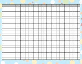 Assessment Record Sheet ~ polka dot theme