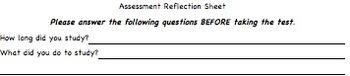 Assessment Reflection Sheet