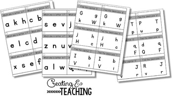 Assessment Rings {Capital & Lowercase Letters}