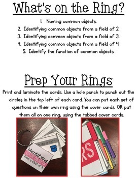 Assessment Rings {Common Objects}
