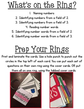 Assessment Rings {Numbers 1-30}