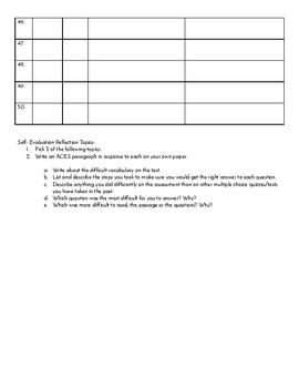 Assessment Self-evaluation & Error Analysis