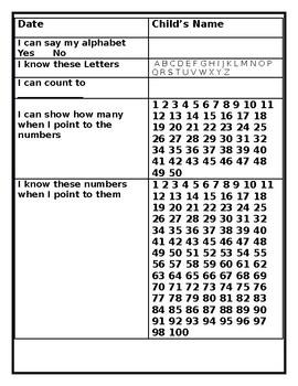 Assessment Sheet K-2