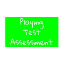 Assessment Sheet for Playing Tests