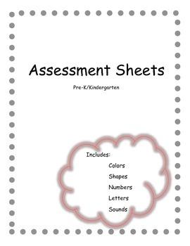 Assessment Sheets