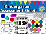 Assessment Sheets-Kindergarten (Assessing Templates)