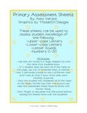 Assessment Sheets for Kindergarten