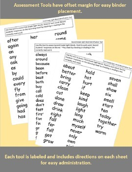 Assessment: Sight Words - First through Third Grade