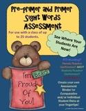 Assessment: Sight Words - Pre-primer and Primer