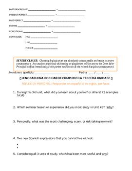 Assessment - Spanish 5 Exam 3: ¡Mando yo!