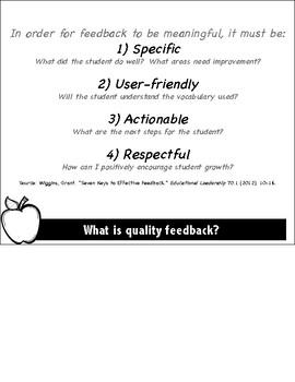 Assessment Feedback Strategies Flip Book for New Teachers