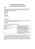 Assessment Task: Myths and Legends