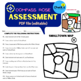 Assessment Test Quiz for Geography Map Work and Compass Rose