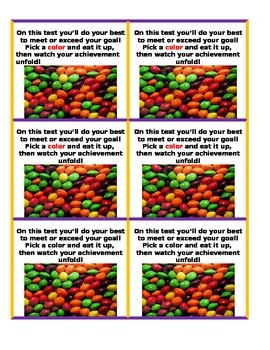 Assessment Test Treat Bag Tags Multi - Color Candy