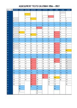 Assessment Tests Calendar
