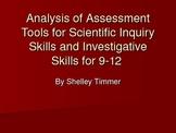 Assessment Tools for Scientific Inquiry