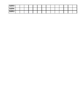 6th Grade Assessment Tracking Sheet