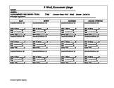 Assessment Tracking Tool (9 Week Time Period)