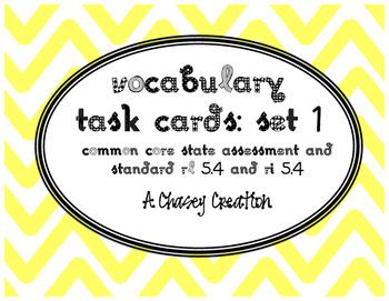 TN Ready ELA Vocabulary Task Cards RL 5.4 Set 1