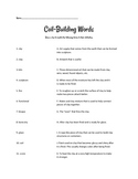 Assessment Worksheet to Quiz Students on Coil-Building Vocabulary
