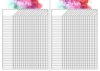 Assessment and Data Book DIY Printable Colour Splash - Indi Plans