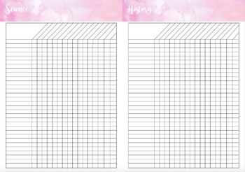 Assessment and Data Book DIY Printable Pink Marble - Indi Plans