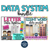 Letters and Sight Words Assessments and Data Packet BUNDLE