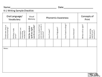 Assessment and Progress Monitoring Pack