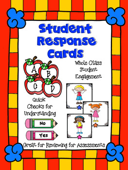 Assessment  and Quick Check Student Response Cards - Stude