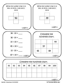 Assessment for 1.NBT.1, 1.NBT.3, 1.NBT.4, and 1.NBT.5