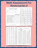 Assessment for Kindergarten 2