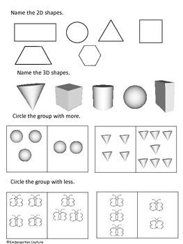 Assessment for Kindergarten -freebie