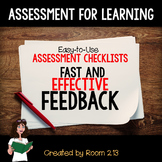 Assessment for Learning:  Easy-to-use Checklists for Fast