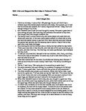 Assessment for Main Idea using Multiple Fictional Passages (Test or Quiz)