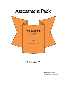 Assessment for The Great Gilly Hopkins by Katherine Paterson