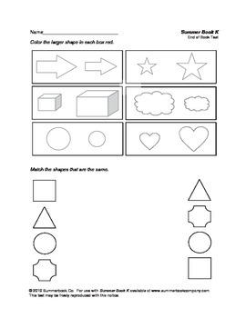 Assessment for the End of Preschool or the Beginning of Kindergarten