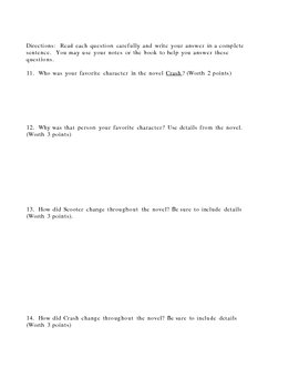 Assessment for the book Crash