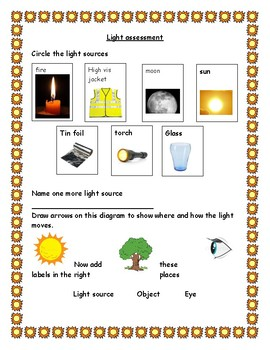 Assessment for the light science topic
