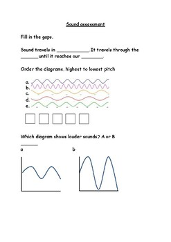 Assessment for the sound science topic