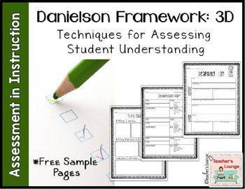 Assessment in Instruction - Danielson 3d