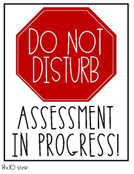 Assessment in Progress/Do Not Disturb signs - IKEA Tolsby Frame