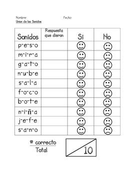 Assessment of Blending Phonemes in SPANISH