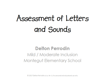 Assessment of Letters and Sounds